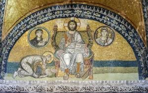 Mosaïque de de la Porte impériale, Sainte-Sophie (Istanbul, Turquie)