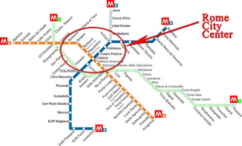 Metropolitana Larry Muffin At Home - Rome metro map 2016