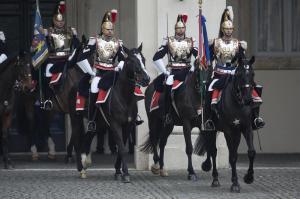 Quirinale - Giorgio Napolitano riceve gli onori militari dopo aver rassegnato le dimissioni