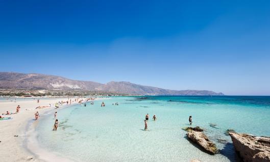 Elafonisi beach in Crete, Greece. Photograph: Alamy