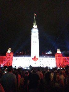parliament canada flag 50