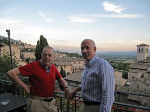 will and laurent at assisi