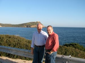 will and laurent at cap sounion