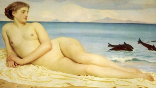Actaea, the nymph on the shore, frederic leighton.jpg